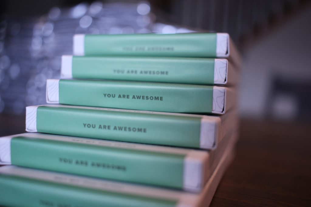 "Plains to Peaks Chocolate Bar Packaging ""You Are Awesome"""